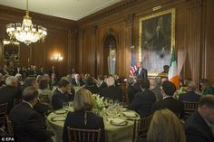 The president recognized investments made by both American and Irish companies that continue to improve both economies through trade