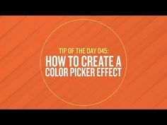 Easily Script a Color Picker Effect in After Effects - Lesterbanks
