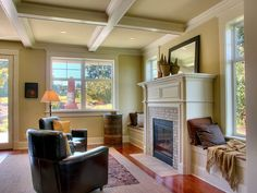 Viewridge Craftsman Spec - traditional - living room - seattle - by RW Anderson Homes