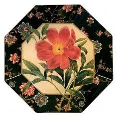 Japanese Peony Decoupage Plate-Available in a Variety of Sizes