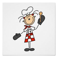 Chef With Mitts and Wooden Spoon