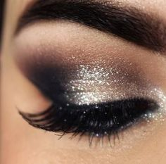 Charcoal and Silver makeup for New Years.