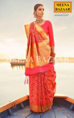 Peacock Handwoven Saree Online Shopping For Ethnic Wear: Buy Designer Sarees, Lehengas, Anarkali suits, Salwar Suits,Kurtis,Gowns – Meenabazaar.com