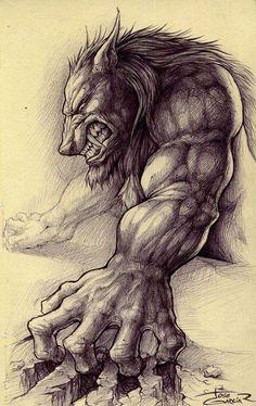 Werewolf Art by Jose Garcia