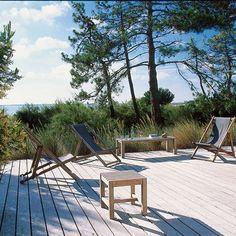 La terrasse conçue en biais - Marie Claire Maison