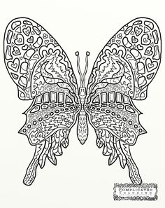 butterfly abstract doodle zentangle coloring pages colouring adult detailed advanced printable kleuren voor volwassenen coloriage pour - Advanced Coloring Pages Butterfly