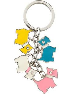 Image for Multi Scotty Dogs Keyring from StoreName