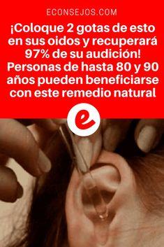 Recuperar audicion | ¡Coloque 2 gotas de esto en sus oidos y recuperará 97% de su audición! Personas de hasta 80 y 90 años pueden beneficiarse con este remedio natural | →¡Coloque 2 gotas de esto en sus oidos y recuperará 97% de su audición! Personas de hasta 80 y 90 años pueden beneficiarse con este remedio natural
