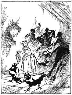 Snow Queen 4, Illustration by Arthur Rackham (1867-1939, United Kingdom)
