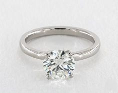 1.9ct Round Solitaire Engagement Ring in Platinum - See it in 360 HD SuperZoom!