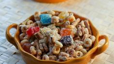 Blogger Cheri Liefeld of Adventures in the Kitchen shares a recipe for an easy snack mix featuring Peanut Butter Cheerios® and Cinnamon Chex® cereals.