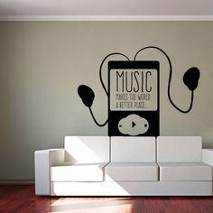 Wandtattoo - Musik makes the world