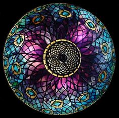 """18"""" Peacock leaded Glass Tiffany Lamp shade #1472 and bronze urn base #1455"""