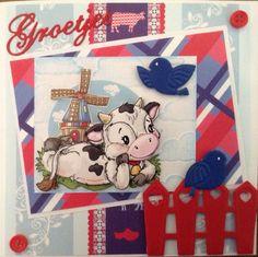 Hollandse koeien-groetjes naar Duitsland Holland, Snoopy, 3d, Cards, Handmade, Fictional Characters, The Nederlands, Hand Made, Craft