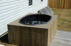 $350 Solar Heated Hot Tub http://www.builditsolar.com/Projects/PoolHeating/SolarHotTub.htm