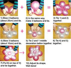how to make flower balloons