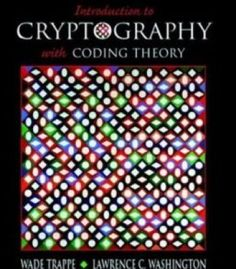 Introduction To Cryptography With Coding Theory PDF