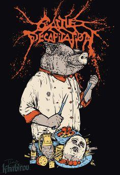 Heavy Metal Music, Heavy Metal Bands, Music Artwork, Metal Artwork, Dark Fantasy, Fantasy Art, Cattle Decapitation, Extreme Metal, Creepy Pictures