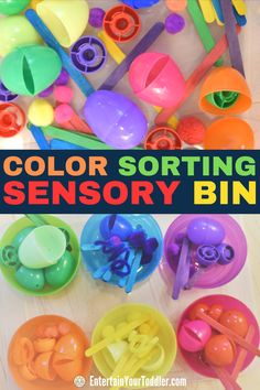 Awesome toddler activity to keep little ones entertained and busy. Activities To Do With Toddlers, Educational Activities For Preschoolers, Rainy Day Activities, Indoor Activities For Kids, Color Activities, Infant Activities, Learning Colors, Preschool Activities, Kids Learning