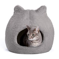 Cats are special. They like a dark den in which to crawl in and curl up. Soft, cozy, and all their own. A cat den is a haven - a sanctuary from the family dog. See these beautiful cat pods and caves. They have a special shape for your special cat. Heated Cat Bed, Airline Pet Carrier, Large Dog Crate, Cat Perch, Cat Cave, Cool Cats, Pet Supplies, Kitty, Pets