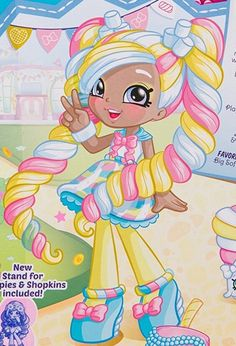 Shopkins Bday, Shopkins Girls, Cute Cartoon Girl, Cartoon Art, Shopkins Happy Places, Shopkins Characters, Shopkins And Shoppies, Art Style Challenge, My Little Pony Drawing