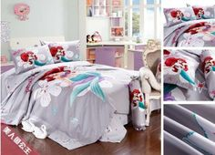 New Spring 500TC Cotton the little mermaid bedding set,100% cotton grils bedding with mermaid ,Twin/Full/Queen/King on AliExpress.com. $85.00