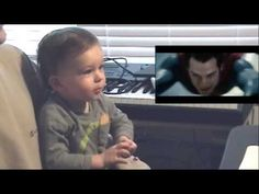 16 months old baby boy's funny and adorable reaction to Superman - Man Of Steel movie. Superman Man Of Steel, My Superman, Uber Humor, Dc Movies, Cutest Thing Ever, Little Babies, Funny Cute, Cute Kids, Man Of Steel
