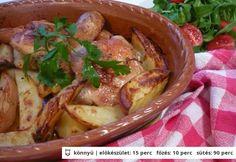 Kakukkfüves csirkecombok újburgonyával Izu, Poultry, Crockpot, Slow Cooker, Mexican, Dishes, Meat, Baking, Ethnic Recipes