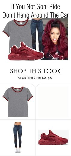 """Ride~~"" by be-you-tiful-flower ❤ liked on Polyvore featuring Monki, BLANKNYC and NIKE"