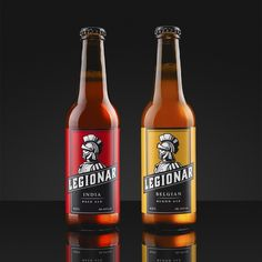 I don't think I'll ever tire of seeing new craft breweries pop up around  the world since they all offer something a little different. Legionar Craft  Beer hails from Osijek, Croatia, and Studio 33 developed the brand identity  and packaging for their flavorful brews.