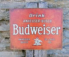 beer home Decor | ... Bud Beer Old Time Tin Sign Retro Garage Home Bar Decor Gift USA | eBay
