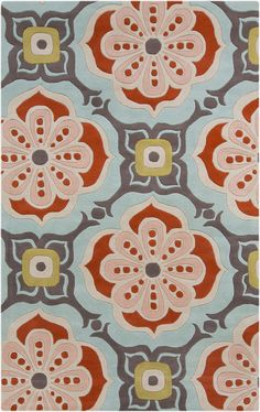 New garden-inspired Alhambra rug by Kate Spain for Surya (ALH-5007)