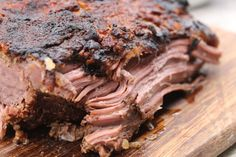 This is a simple slow cooker beef brisket recipe with onions and mustard can be made in the morning and by the time you get home, dinner is ready. Beef Brisket Recipes Crockpot, Slow Cooked Brisket, Pulled Pork Recipes, Slow Cooker Beef, Slow Cooker Recipes, Crockpot Recipes, Smoked Brisket, Whole30 Recipes, Yummy Recipes