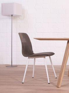 KFF Maverick Stuhl mit Metallgestell grau Leder grau • KFF®-Shop • KwiK Designmöbel
