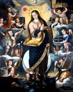 Angelino Medoro, Immaculate Conception, 1619, oil on canvas, Iglesia de San Agustín, Lima.