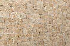 """Travertine Mosaic - Stacked Stone Brick Series - Noce / 1""""x2"""""""