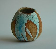 Inspired by tummbled beach stones the colour is reminiscent of sea and sky. Stoneware fired with a shiny glaze inside so a few herbs or flowers can be displayed. Beach Stones, Summer Days, Stoneware, Ceramics, Flowers, Color, Inspiration, Ceramica, Biblical Inspiration