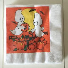 Amscan Halloween Ghosts Paper Luncheon Cocktail Napkins 16