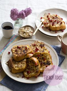 Toasted Almond French Toast // www.acozykitchen.com