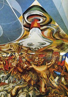 Death to the Invader, 1941-1942David Alfaro Siqueiros  - Muralism. Una de mis preferidas.