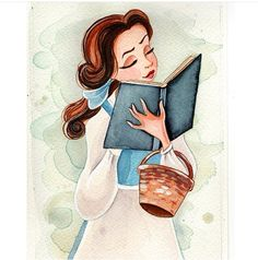 I will attempt this one. Soon // belle beauty and the beast illustration watercolor Disney princess art Walt Disney, Disney Amor, Disney Girls, Disney Magic, Disney Fan Art, Disney Love, Disney Stuff, Disney And Dreamworks, Disney Pixar