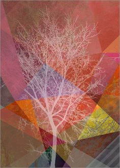 Pia Schneider | atelier COLOUR-VISION | - P26-A Trees and Triangles #poster…