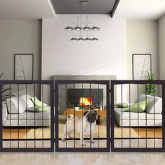 Pet Fence Free Standing 3 Panel Wooden Folding Solid Playpen Indoor Safety Gates MD Group * Nice of you to drop by to see the photo. (This is an affiliate link) Indoor Dog Fence, Indoor Pets, Diy Dog Gate, Pet Gate, Wood Fence Gates, Dog Gates, Fences, Baby Gates, Fence Art