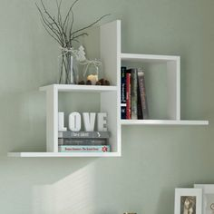 17 Stories Fill your empty wall space with this unique wall shelf. Featuring shelving for your home and office. Unique Wall Shelves, Wall Shelving Units, Cube Shelves, Wall Shelves Design, Floating Wall Shelves, Corner Shelves, Display Shelves, Wall Cubes, Regal Design