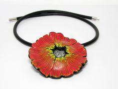 Statement Ketten - Feen- Blüte, Halskette, 3D Kunst aus Polymer clay  - ein Designerstück von filigran-Design bei DaWanda