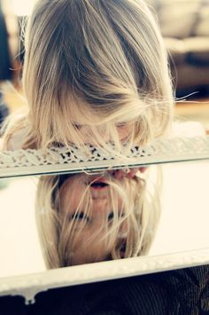 Little Girl in the mirror!