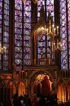 St-Chapelle, Paris - In the top 5 most beautiful places on earth. The windows literally are the walls of the Chapel.
