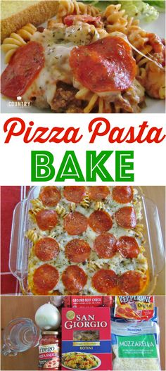 Easy pizza pasta bake Pizza Pasta Bake recipe from The Country Cook Baked Pasta Recipes, Beef Recipes, Italian Recipes, Cooking Recipes, Pizza Recipes, Easy Recipes, Pasta Dishes, Food Dishes, Main Dishes