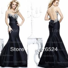 dresses evening Picture - More Detailed Picture about New fashion evening dress 2014 sweetheart backless crystal Mermaid Prom party formal dresses TE 92298 Picture in Prom Dresses from Dress Just For You.