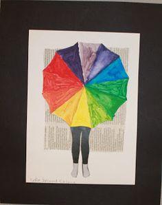 Kunst og handverk med TE: Fargesirkel-collage